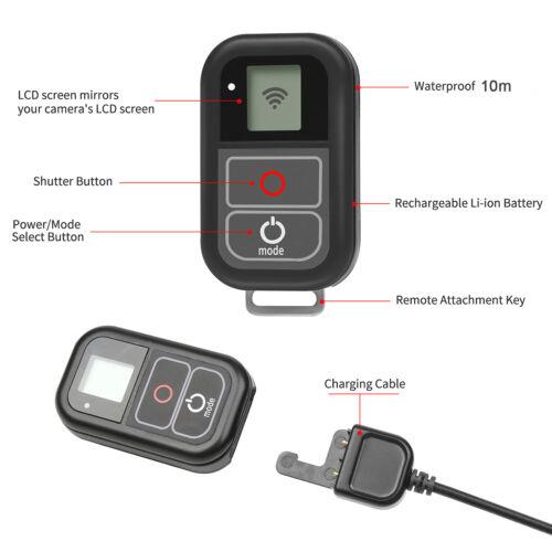 Cámara Control Remoto Inalámbrico Wifi Impermeable para Todos GoPro HERO 7 6 5 4 3 3