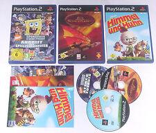 3 Spitzen KINDER Spiele für Playstation 2 z.B. SPONGEBOB; SCHATZPLANET, HIMMEL &