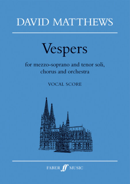 Vespers Mixed Singer Choir Choral Advanced Sing Voice Orchestra FABER Music BOOK