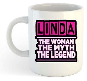 Linda-The-Woman-The-Myth-The-Legend-Mug-Name-Personalised-Funky-Gift