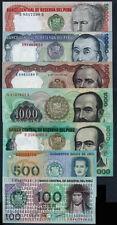 PERU OLD FULL SET***100/50000 SOLES ORO***UNC GEM***LOOK SUPER SCAN