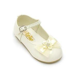 Infant toddler baby girl dress formal shoes wedding for Girls dress shoes for wedding