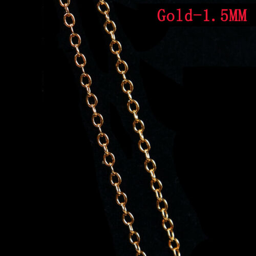 1Meters Metal Charm Chain Necklace Earrings Jewelry Finding DIY Making Handm Nz