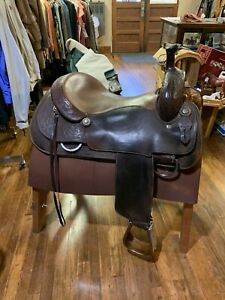 "Custom Cowboy Shop 17"" Cutting Saddle Maker Ron Burkey"