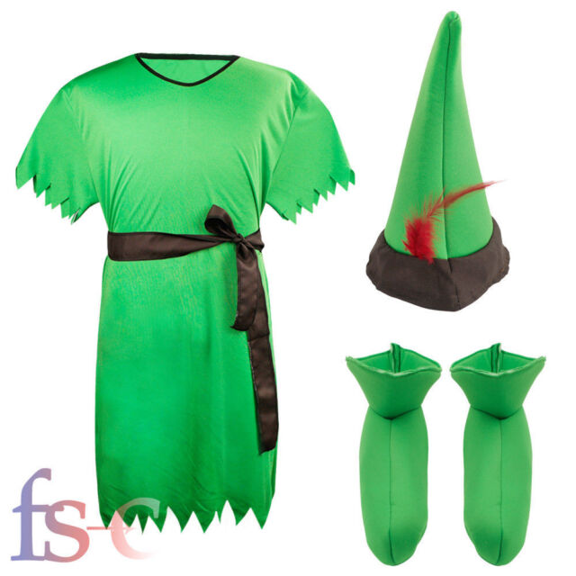 Fairytale Peter Pan Robin Hood Lost Boy Elf Male Mens Adult Fancy Dress Costume