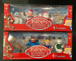 Rudolph-the-Red-Nosed-Reindeer-8pc-Figurine-Set-Misfits-Bumble-Yukon-Sam-Charlie