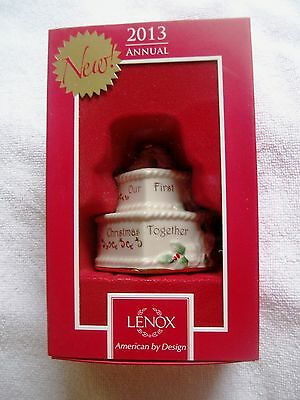 LENOX WEDDING CAKE ORNAMENT 2013 OUR FIRST CHRISTMAS ...