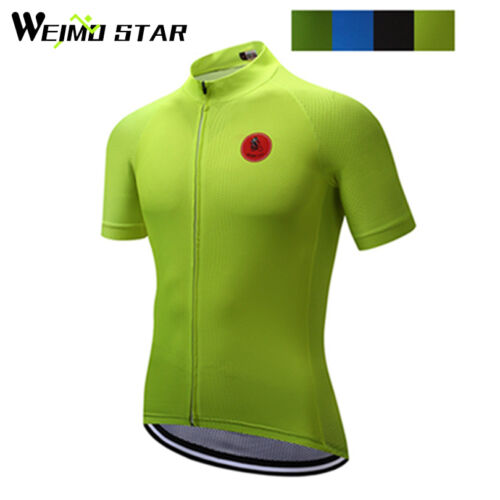 WEIMOSTAR Team Breathable Mens MTB Cycling Bike Bicycle Short Sleeve Jersey Tops
