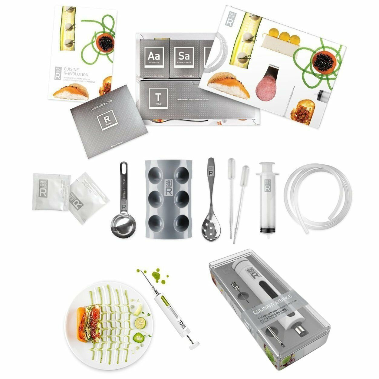 Moleculer culinaire combo cuisine gastronomie moléculaire kit & food style seringue