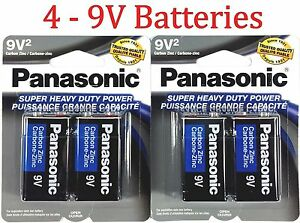 4-Wholesale-9V-Panasonic-9-Volts-Batteries-Battery-Super-Heavy-Duty-Lot