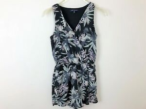 86c05c6fb11 One Clothing Romper Womens Sz Small Black White Floral Pockets ...