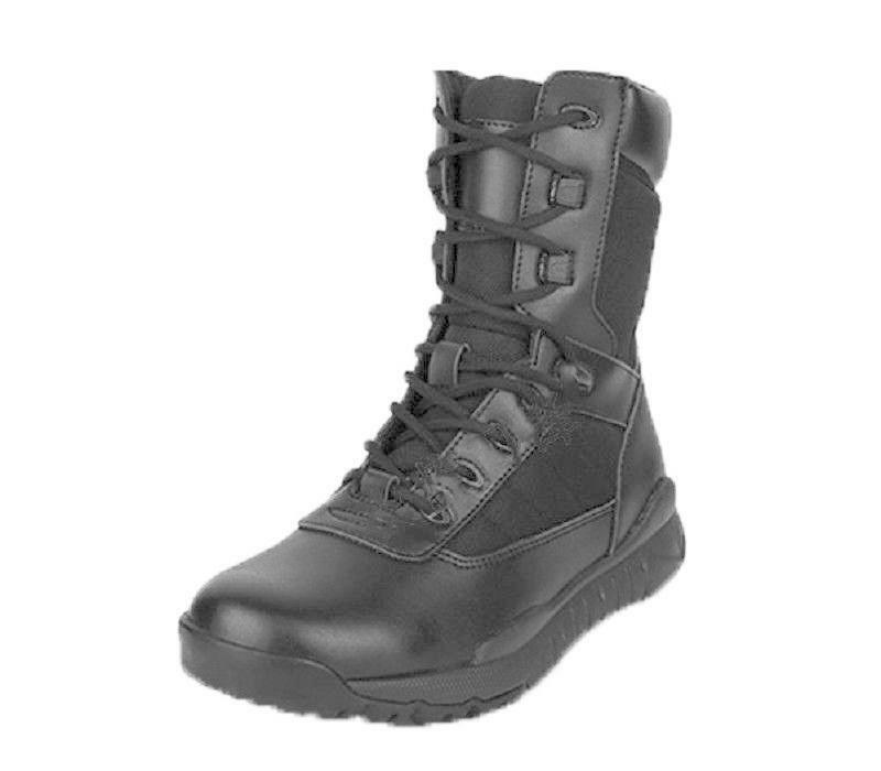 US Size 5-11 New Black Leather Mens Tactical Combat Military Ankle Boots Shoes@4