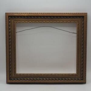 """Vintage 14""""x16"""" Painted Gold Ornate Picture Frame for 10""""x12"""""""
