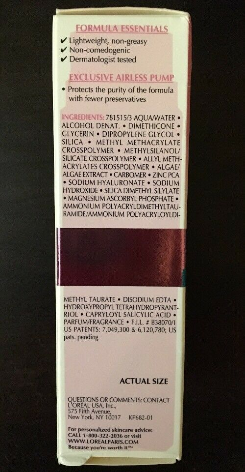1 Oz Ideal Skin Genesis Pore Minimizing Serum Unboxed by L'oreal