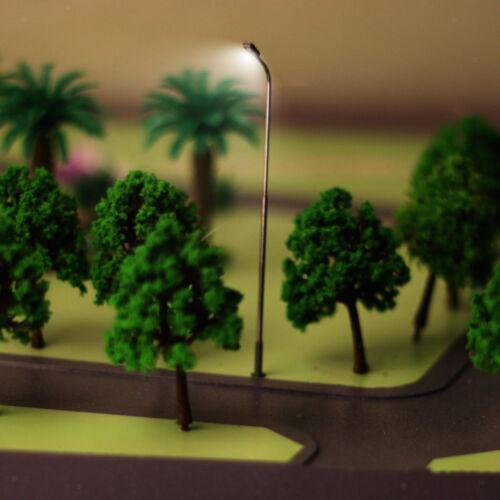 20pcs Modell Garten LED Laternenpfahl Lampe Beleuchtung Layout Zug 1 100 HO