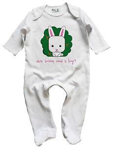 Dirty-Fingers-Baby-Girl-Sleep-suit-034-Any-Bunny-Need-A-Hug-034-Rabbit-Sleepwear