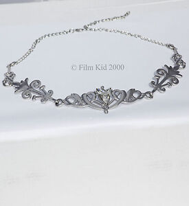 ROYAL-ARWEN-EVENSTAR-PENDANT-SILVER-CROWN-LOTR-HOBBIT-LORD-OF-THE-RINGS-ELVEN