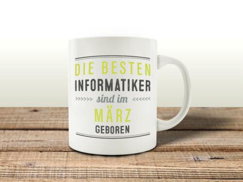 TASSE Kaffeebecher DIE BESTEN INFORMATIKER Informatik Kollege Abschiedsgeschenk