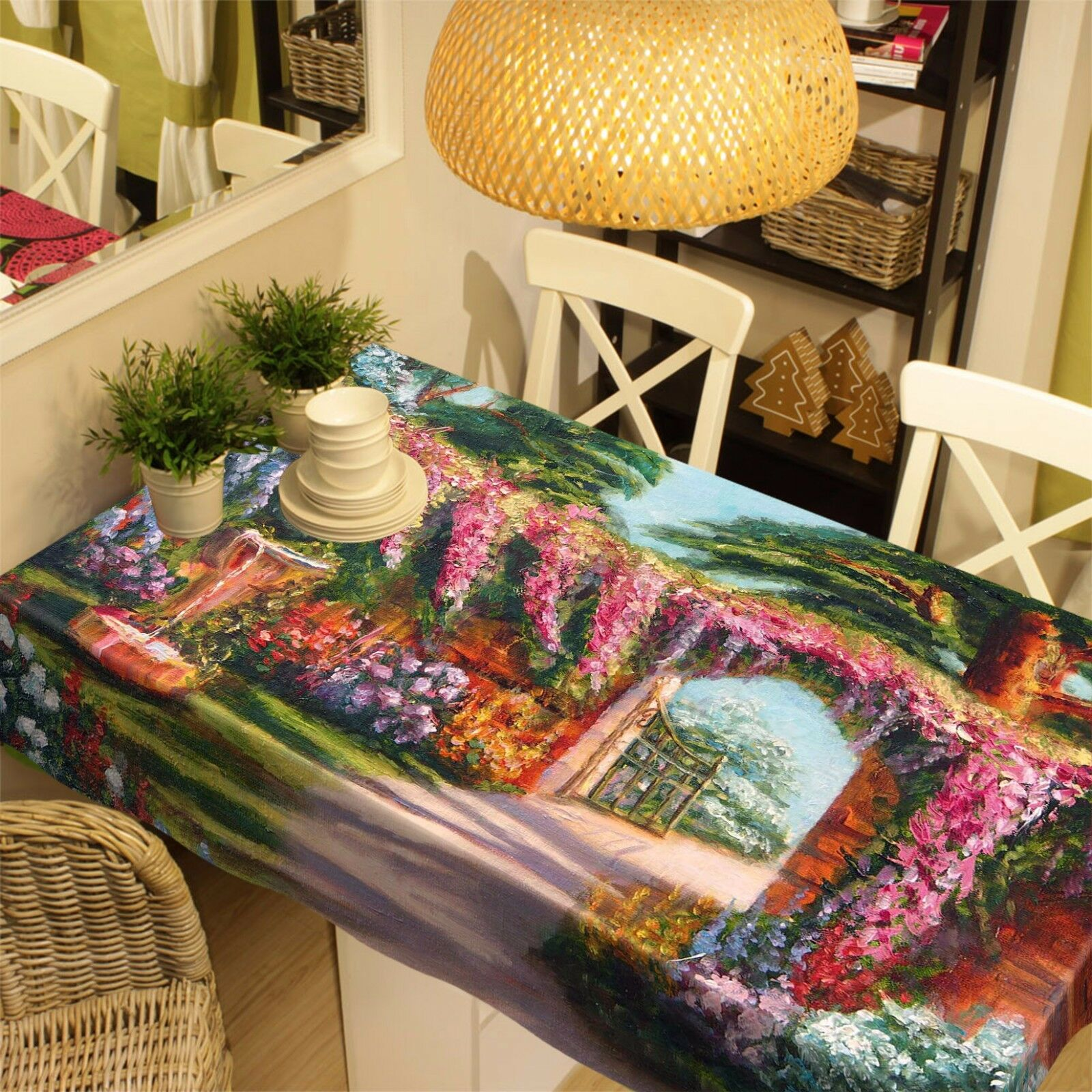 3D Garden 4708 Tablecloth Table Cover Cloth Birthday Party Party Party Event AJ WALLPAPER AU 5adc66