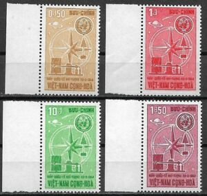 VIET-NAM 1964 Complete series 4 mint stamps **. World Meteorological Day (4754) - France - Region: Viet-Nam Year of Issue: 1964 Type: Stamps Quality: Mint Never Hinged/MNH Country of Manufacture: France - France