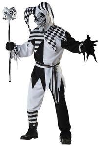 Nobody-039-s-Fool-Evil-Jester-Clown-Joker-Halloween-Mens-Costume