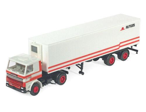 NL Herpa H0 Scania 142E Kühlkoffer-Sattelzug 2//2 Rutges