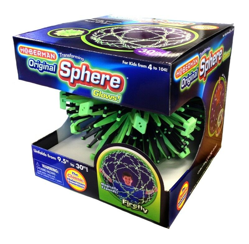Original Classic Hoberman Firefly Glow Sphere Expanding Ball Opens to 76cm   30