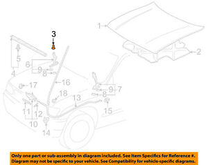 details about toyota oem 84 95 pickup hood insulator insulation pad liner clip 904670900401  1989 toyota pickup diagram only #10