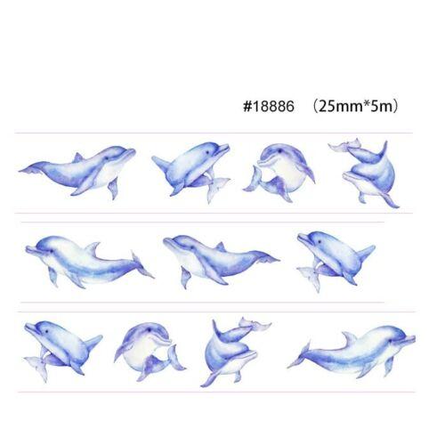 Washi Tape Newspaper Fish Girls Animals Scenery Clocks Patterns 22 Styles