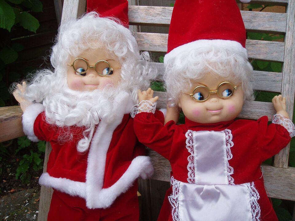 35 cm høje juledkker fra 80erne