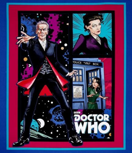 Doctor Who Sewing Cotton Quilting Fabric Panel or Wall Hanging