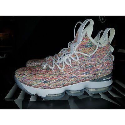 Nike LeBron XV 15 'Fruity Pebbles' 'Cereal' - Sz 10US  .. pebble kobe jordan