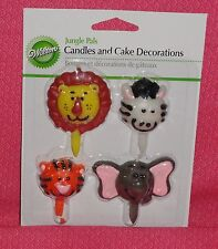 Jungle,Safari Birthday Candle Set, Wilton,2811-1012,Brights,Party Decoration