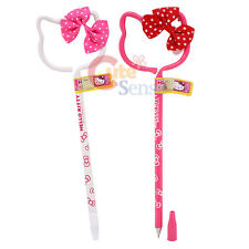 Sanrio Hello Kitty Pen Set 2pc Face Shape Ball Point Pen Set with 3D Bow