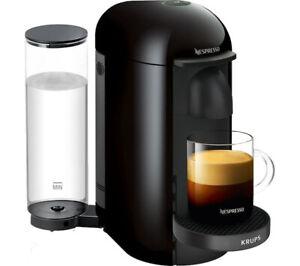Krups XN903840 Pod Coffee Machine Maker Nespresso Vertuo Plus 1260w Black