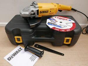 """DEWALT DWE492K 110v Angle grinder 9/"""" 230mm"""