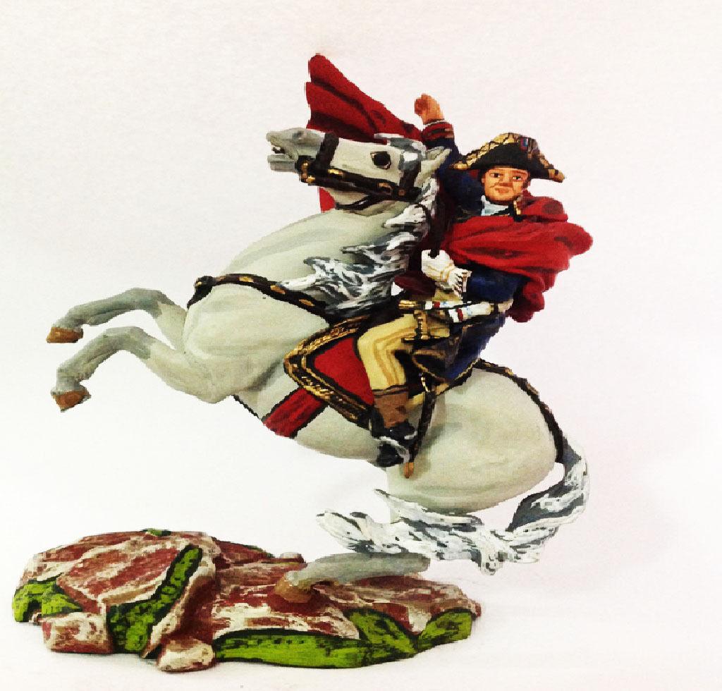 Napole  n a caballo miniatur plomo st. petersburg niena 4.14 54mm kuz'menko