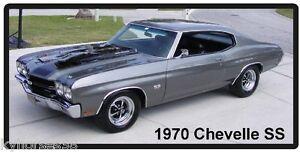 1970 Chevrolet Chevelle SS 454  Auto Car Refrigerator Tool Box  Magnet
