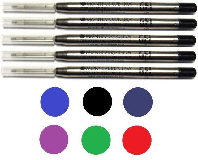 Fine Point 5 Monteverde Ballpoint Pen Refills TURQUOISE GEL Ink Parker Style