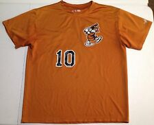 TOLEDO MUD HENS T SHIRT #10 Jersey Minor League Baseball 100 Polyester Sz XL
