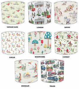Lampshades-Ideal-To-Match-Cath-Kidston-Wallpaper-Duvets-Curtains-amp-Cushions