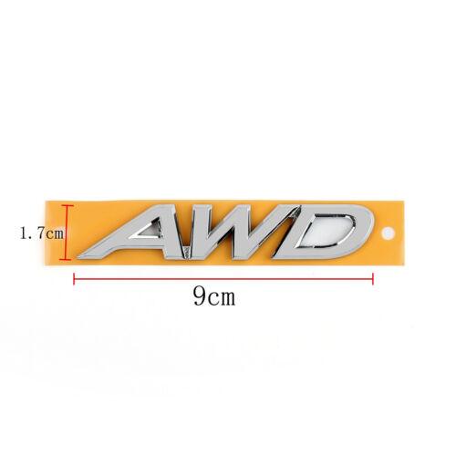 Car Auto Badge Emblem Decal AWD Chrome For EDGE FLEX EDGE EXPLORER JEEP Subaru U