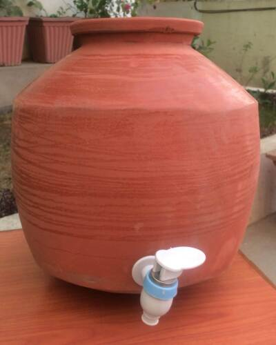Terracotta Clay Water Storage /& Dispenser Pot Tank Container With Lid 5 Lt Matka