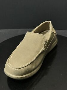 aea37119e Crocs Men s Santa Cruz 2 Luxe Loafer Khaki Canvas Shoes Size US 8 M ...
