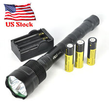 Outdoor 6000Lm 3x XM-L T6 LED 5-Mode Flashlight 3T6 Torch Lamp+Charger+3X18650
