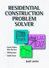Residential Construction Problem Solver, Jahn, Bart, Bart, Jahn, Very Good Book