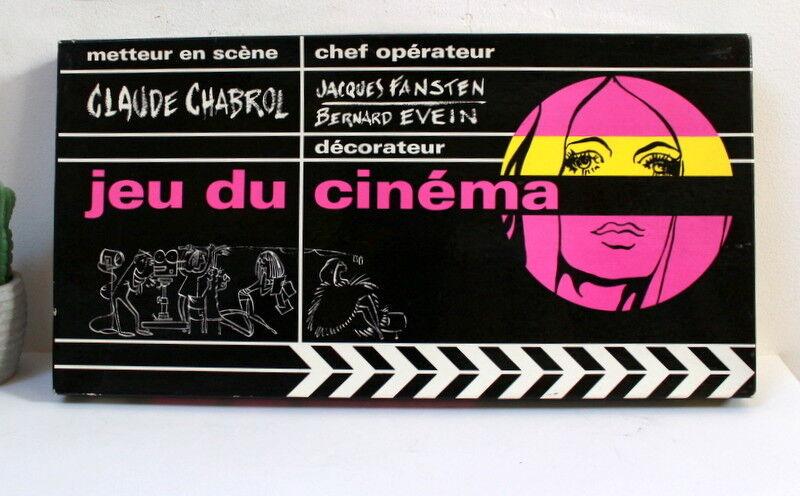Jeu du cinéma de Claude Chabrol Miro Company vintage 1970