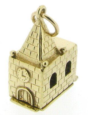9Carat Yellow Gold Church Charms Bride & Groom Altar Wedding London 1979