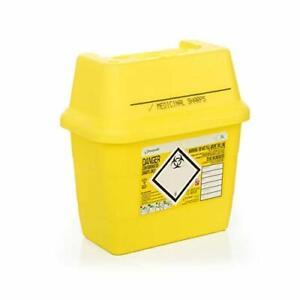 Sharp Safe-Sharps Bin 3Ltr-Sharps Container-Medical Lab-Healthcare-Razors-Crafts