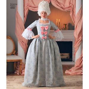 5dbccb7526b66 Detalles de S4092 Costura Patrón Simplicity 4092 Francés Corte  Marie-Antoinette Traje Movie